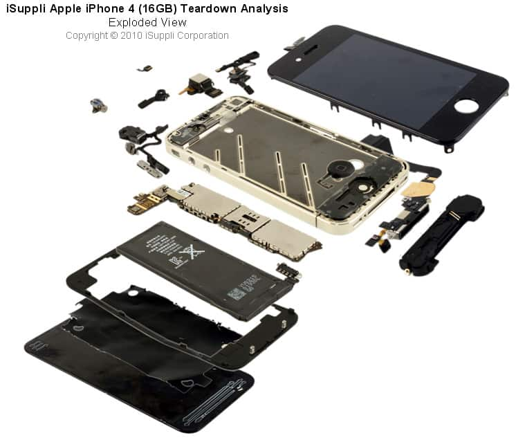Iphone 4 Carries Bill Of Materials Of 18751 According To Isuppli