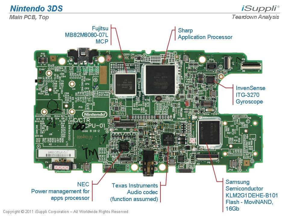 nintendo 3ds carries  100 71 bill of materials  ihs