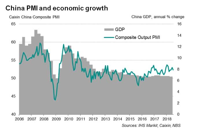 China PMI surveys point to steady economic expansion but rising growth risks