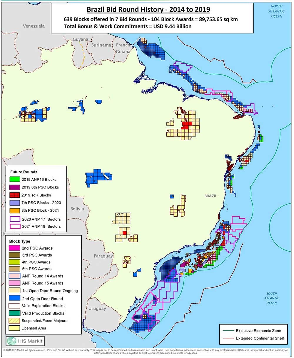 Brazil bid round history map