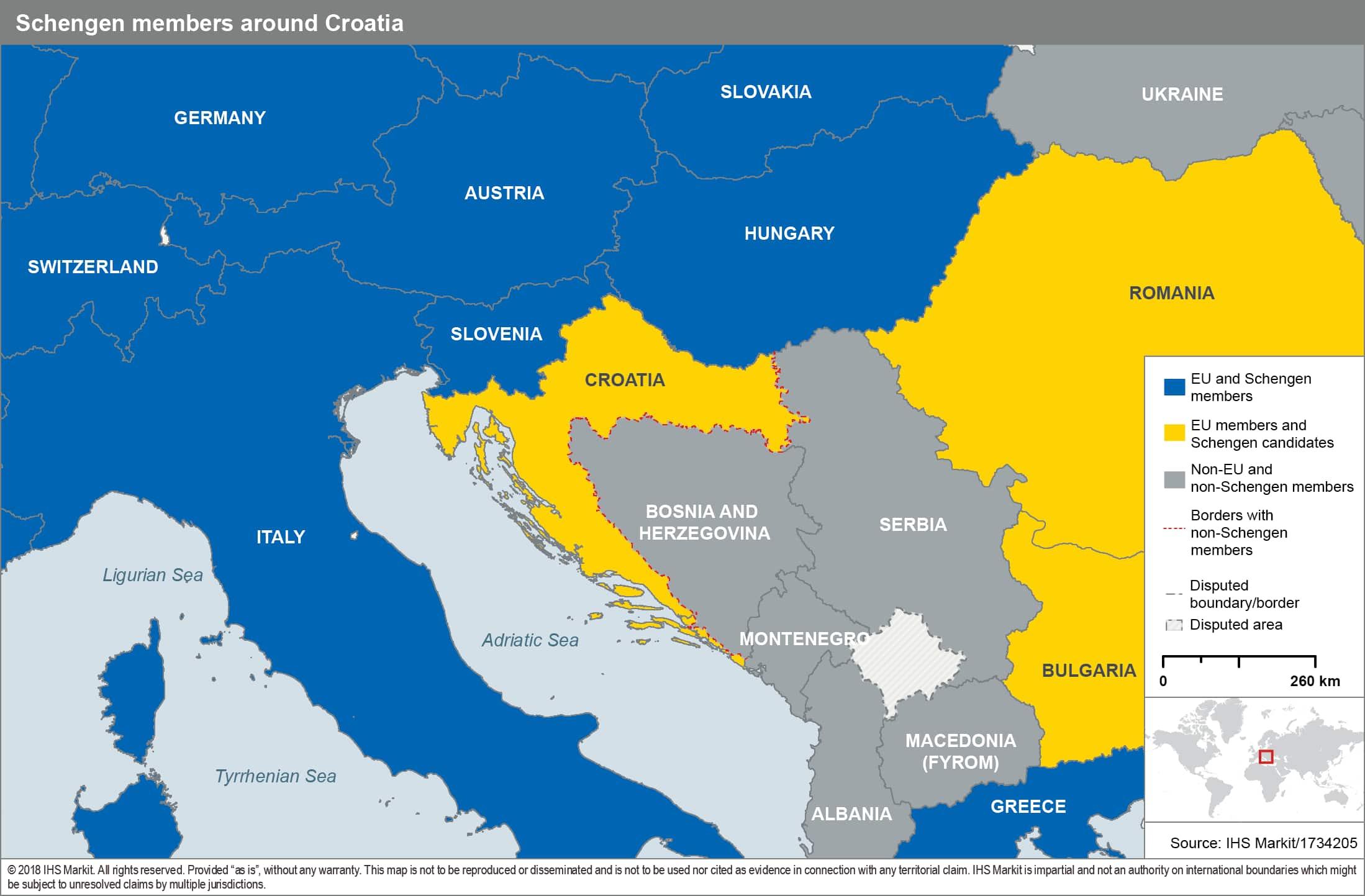 Croatia Approaches The Schengen Area Ihs Markit