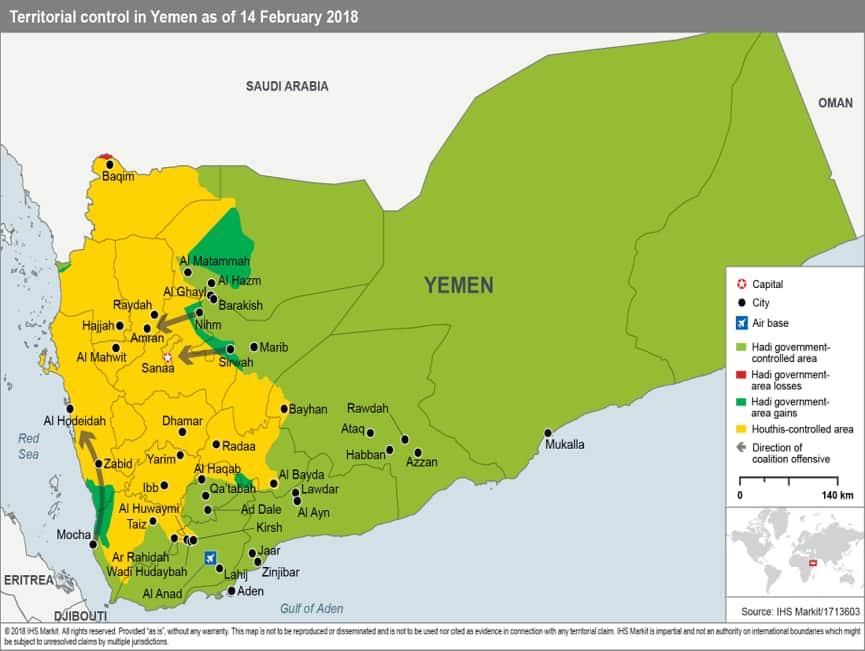 Political Map Of Yemen.Forecast Review Yemen Ihs Markit