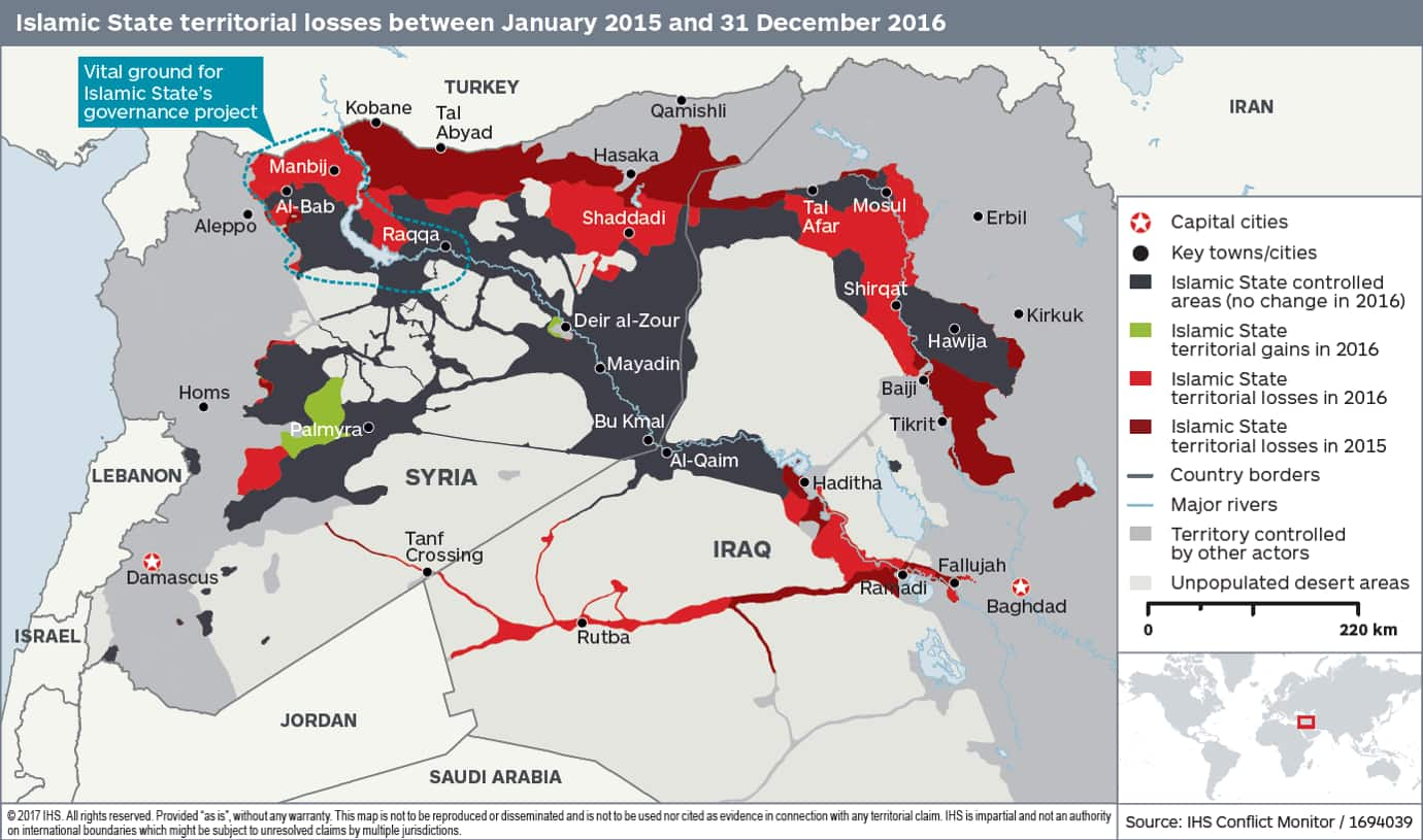 Islamic State territory losses
