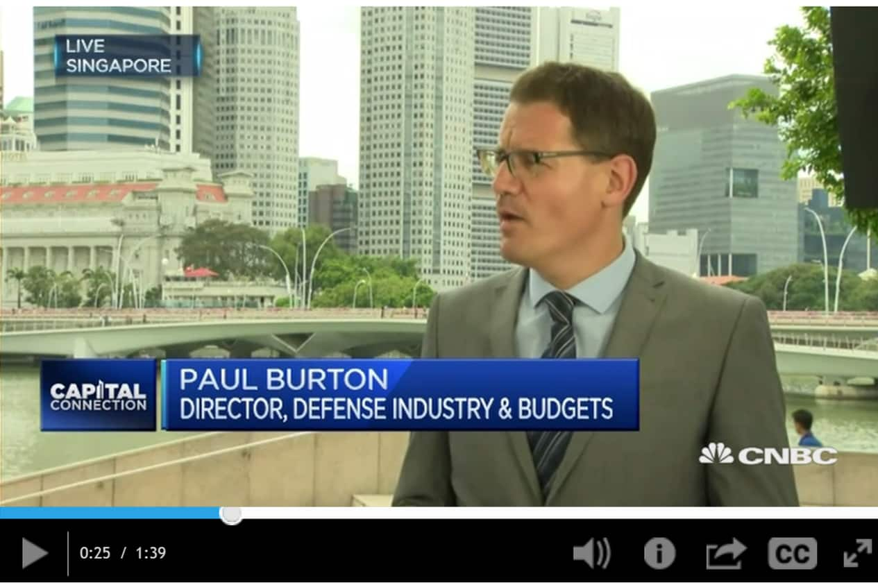 Paul Burton, CNCB, South East Asia defence budget spend