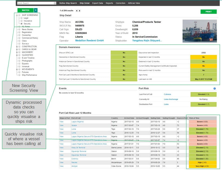 Maritime Intelligence Risk Suite (MIRS) | IHS Markit