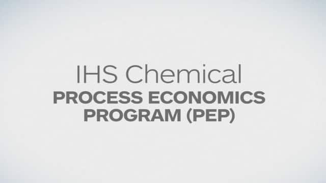 Chemical Process Economics Program PEP